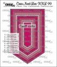 Crealies Crea-Nest-Lies XXL no. 99 Dies - Banner with Small Circles (9 dies)