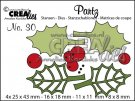 Crealies Partz Dies no. 30 - Holly leaves + berries