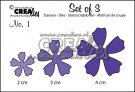 Set of 3 dies no. 1 Flowers 1