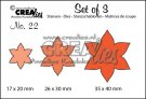 Crealies Set of 3 dies no. 22 Flowers 13