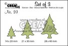 Crealies Set of 3 dies no. 39 - Christmas trees thin