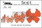 Crealies Set of 3 dies no. 44 Butterflies 6