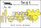 Crealies Set of 3 dies no. 46 Butterflies 8