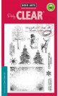 Hero Arts Clear Stamp Set - Vintage Christmas Wishes (12 stamps)