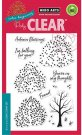 Hero Arts Clear Stamp Set - Color Layering Autumn Trees (13 stamps)