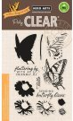 Hero Arts Clearly Clear Stamps - Color Layering Swallowtail (12 stamps)