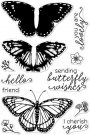 Hero Arts Color Layering Clear Stamps - Monarch