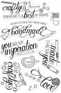 "Hero Arts Clear Stamps 4""X6""Crafty Messages"