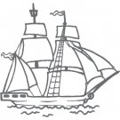 Couture Creations Seaside And Me Stamps - Mini Tall Ship