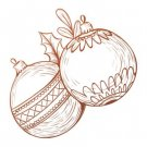 Couture Creations Mini Stamp - Christmas Baubles