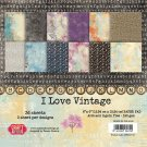 "Craft & You 6""x6"" Paper Pad - I Love Vintage (36 sheets)"