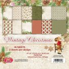 "Craft&You 6""x6"" Paper Pad - Vintage Christmas (36 sheets)"