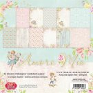 "Craft & You 12""x12"" Paper Pad - Amore Mio (12 sheets)"