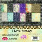 "Craft & You 12""x12"" Paper Pad - I Love Vintage (12 sheets)"