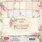 "Craft & You 12""x12"" Paper Pad - My Wedding (12 sheets)"