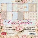 "Craft & You 12""x12"" Paper Pad - Rose Garden (12 sheets)"