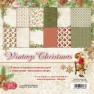"Craft&You 12""x12"" Paper Pack - Vintage Christmas (12 sheets)"