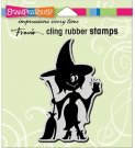 Stampendous Cling Stamp - Witch Selfie