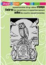 Stampendous Cling Rubber Stamp - Halloween Tombstone Owl