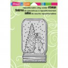 Stampendous Cling Stamp - Snow Jar