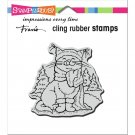 Stampendous Cling Stamps - Scarf Kitty