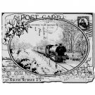 Stampendous Cling Stamp - Train Postcard