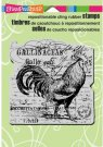 Stampendous Cling Rubber Stamp - Rooster Elements