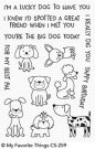 My Favorite Things - Canine Companions Clear Stamps