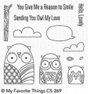 My Favorite Things - Owl My Love Clear Stamps