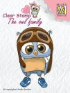 Nellies Choice Clear Stamps - The Owl Family Pilot