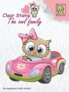 Nellies Choice Clear Stamps - The Owl Family Car