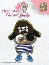 Nellies Choice Clear Stamps - The Owl Family Pirate