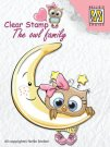 Nellies Choice Clear Stamps - The Owl Family Moon