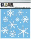 "Clear Scraps 6""x6"" Stencils - Ice Crystal Snowflakes"