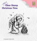 Nellies Choice Clearstamp - Christmas Time Angel Decorating
