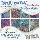 "Decorer 12""x12"" Paper Pack - Vintage Fabric (18 sheets)"