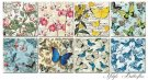 "Decorer 6""x6"" Paper Pack - Butterflies (24 sheets)"