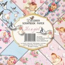 "Decorer 6""x6"" Paper Pack - It's a Girl (24 sheets)"
