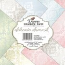 "Decorer 8""x8"" Paper Pack - Delicate Damask (18 sheets)"