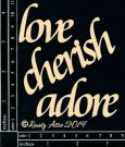 Dusty Attic - Love Cherish Adore 3pk (DA0025)