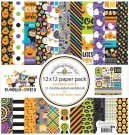 "Doodlebug 12""x12"" Paper Pack - Pumpkin Party (12 sheets)"