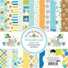 "Doodlebug 6""x6"" Double-Sided Paper Pad - Party Time (24 sheets)"