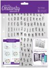 Docrafts A5 Clear Stamp Set - Alphas Folk (128 stamps)