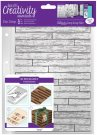 Docrafts A5 Clear Stamp Set - Wooden Boards Background