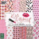 "Dovecraft 12""x12"" Paper Pad - Kiss & Makeup (36 sheets)"