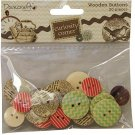 Dovecraft Curiosity Corner Wooden Buttons