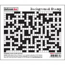 Darkroom Door Background Cling Stamp - Crossword