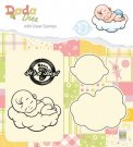 Nellies Choice DADA Die with Clear Stamp - Its a Boy Sweet Dreams
