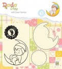 Nellies Choice DADA Die with Clear Stamp - Its a Boy On The Moon
