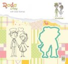 Nellies Choice DADA Die & Clear Stamp - Marriage In Love
